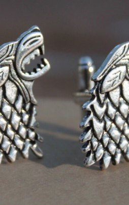 Cufflinks from Game of thrones. Wolf head from Stark.