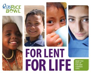 CRS Rice Bowl - For Lent For Life