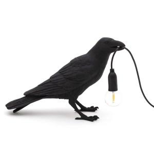 Bird Lamp Waiting black Seletti