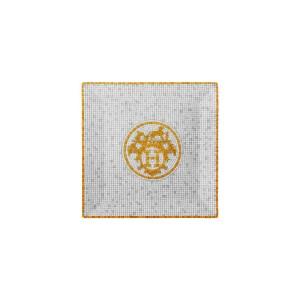 Piattino Quadrato n 3 Mosaique Au 24 Oro
