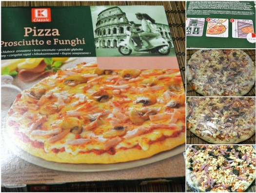pizza K Classic Kaufland prosciutto e funghi