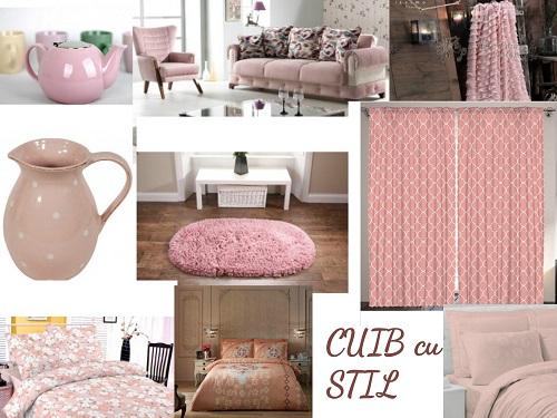 obiecte de decor si casa roz nude