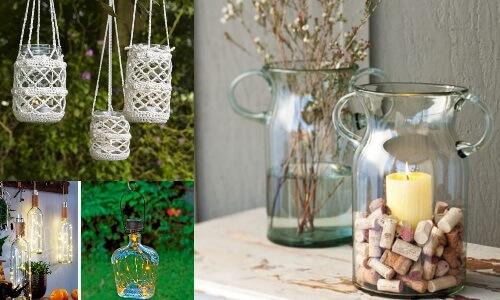 felinare din borcane pentru exterior idei de reciclare și DIY