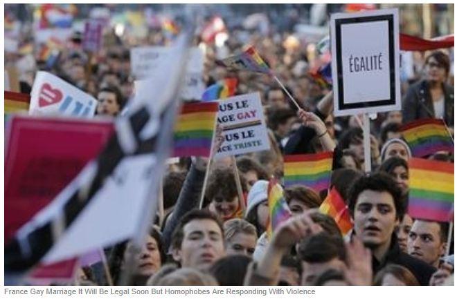 Liber la casatoriile Gay in Franta!