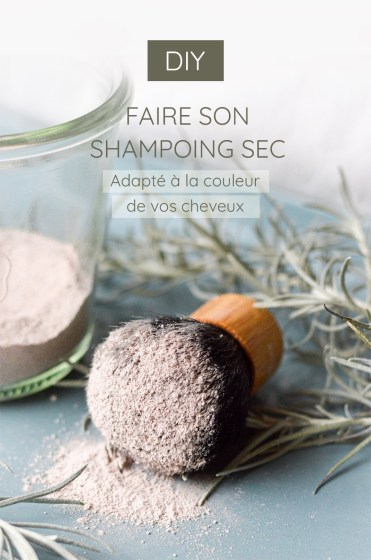 visuel qui présente la recette du shampoing sec