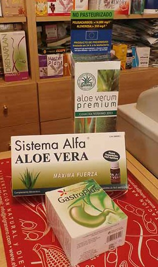 Sistema Aloe vera, premium y gastro plus