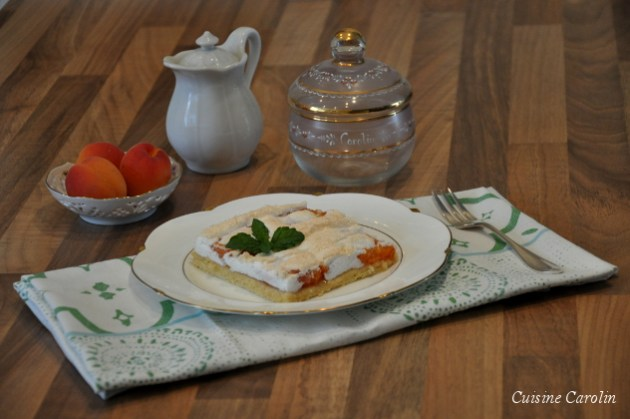 Marillenkuchen mit Baiserhaube