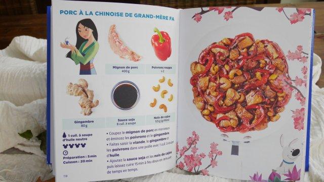 Exemple de recette du livre Simplissime la cuisine en famille la plus simple du monde - ici du porc à la chinoise de Grand-Mère FA