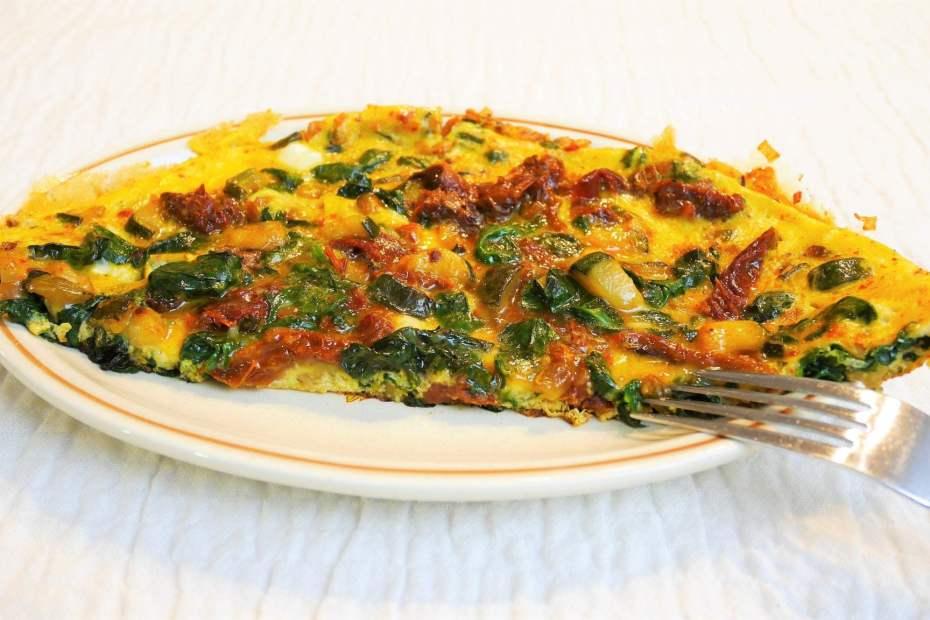 Recette Repas Du Soir Omelette Aux Epinards Et Tomates Sechees