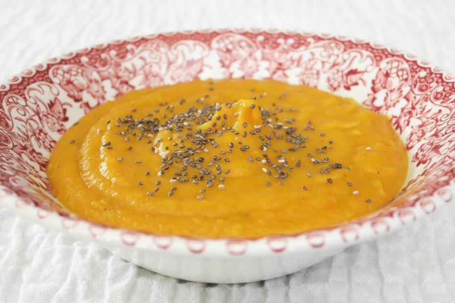 velouté de carotte au cury du livre de Lloyd Lang