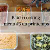 Batch cooking au Cookeo menu #3 du printemps