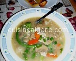 Soupe de riz chinoise brûlante