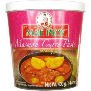 Mae Ploy Massaman Paste 400g High quality Massaman Paste for your favourite Thai recipes. Buy this item as part of our Thai Box or BYOB (Build your own box).