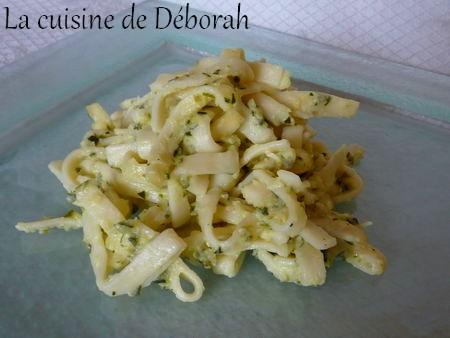 Pâtes à la crème de courgettes Cuisine de Deborah