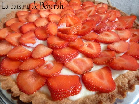 Tarte aux fraises, crème pâtissière au sureau   Cuisine de deborah