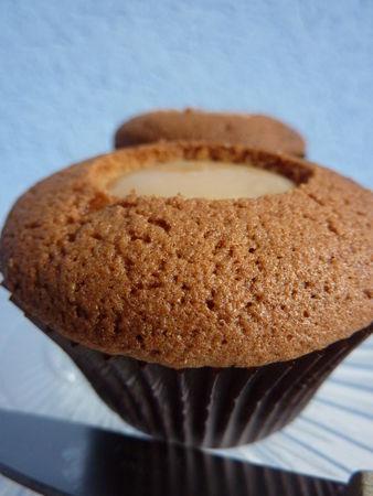 Cupcakes châtaignes, confiture de lait et chocolat - Cuisine de Deborah