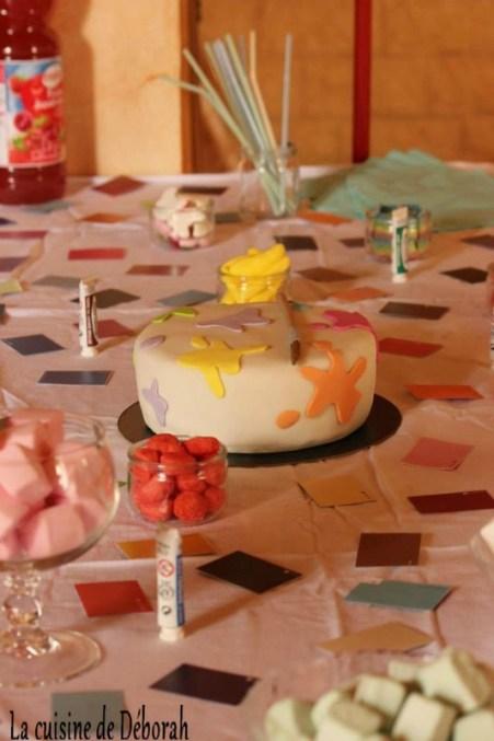 """Gâteau thème peinture **Sweet table anniversaire thème peinture"""" Cuisine de Déborah"""