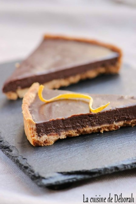 Tarte chocolat et bergamote -  Cuisine de Déborah