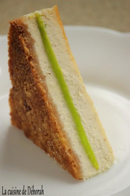 Club-cheesecake vanille et citron vert   La cuisine de Déborah