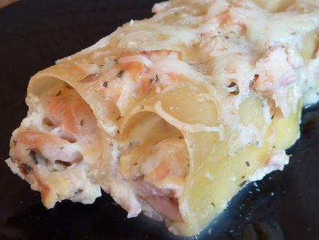 Cannellonis au saumon - Cuisine de Deborah