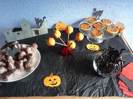 Sweet table d'Halloween et cake pop'sitrouille - Cuisine de Deborah