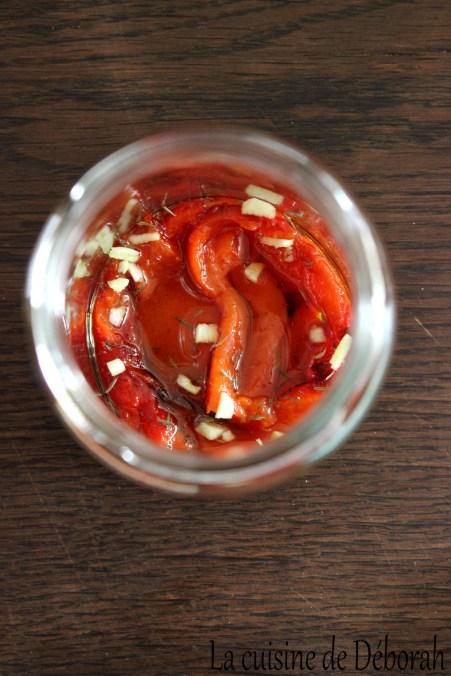 Poivrons marinés à l'huile d'olive   Cuisine de Déborah
