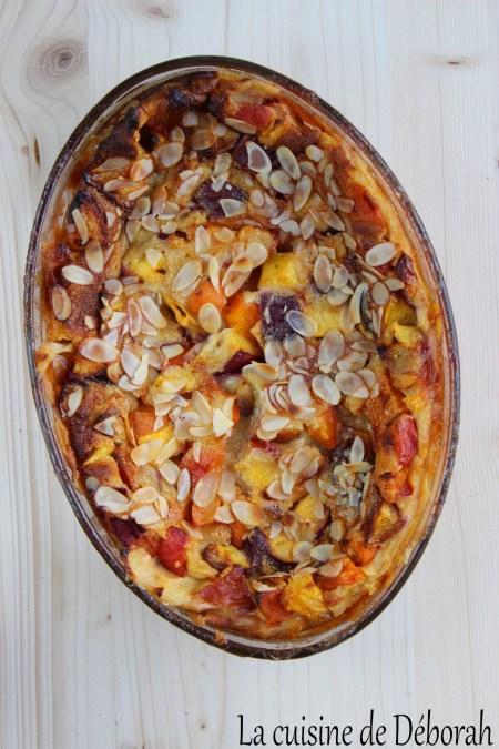 Clafoutis nectarines et abricots   La cuisine de Déborah