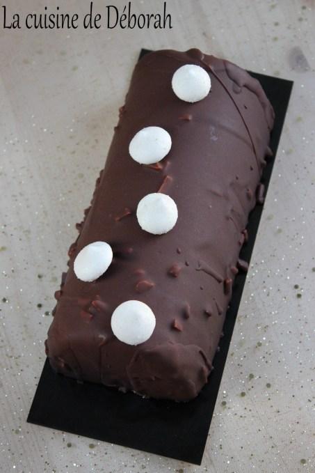 Bûche mangue-chocolat La cuisine de Deborah