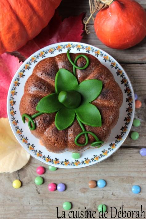 Gâteau citrouille pour Halloween cuisine de deborah