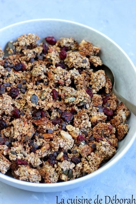 Granola aux graines et aux fruits secs      cuisine de deborah