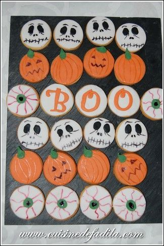 Biscuits d'Halloween version 2 (Halloween Sugar Cookies)