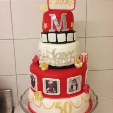 Gâteau d'anniversaire Hollywood