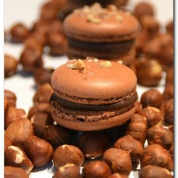 Macarons chocolat praliné et son coeur croustillant