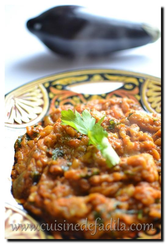 Zaalouk ou salade d'aubergine grillée Marocaine : recette ...
