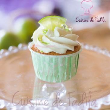 Cupcakes au citron vert et ganache montée au citron vert