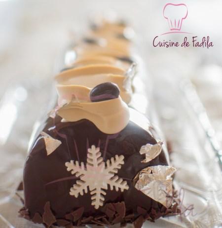 Bûche chocolat café (13 sur 21)