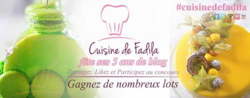 Concours 5 ans de blog cuisine de fadila