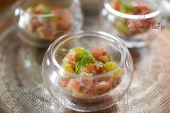 tartare de saumon aux agrumes et gingembre -0384