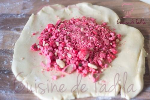 Praluline - brioche aux pralines roses