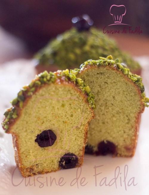 cake pistache cerise amarena