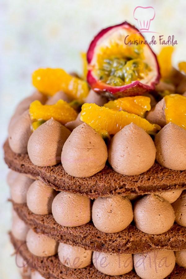 gâteau chocolat orange passion