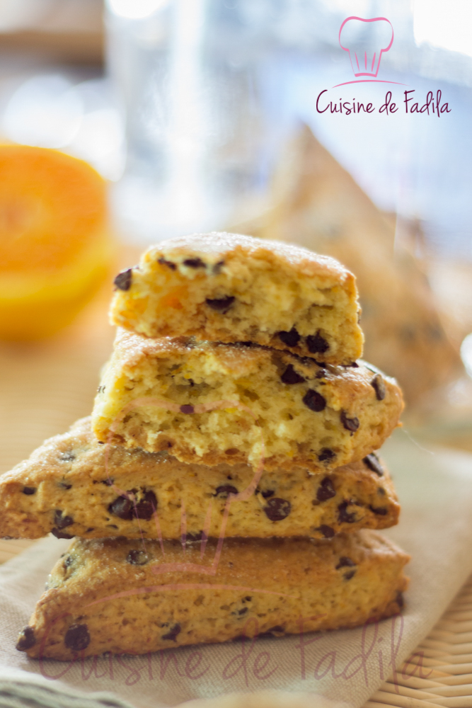 Scones chocolat orange cuisine de fadila - Cuisine orange ...