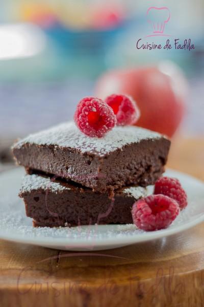 fondant au chocolat sans beurre