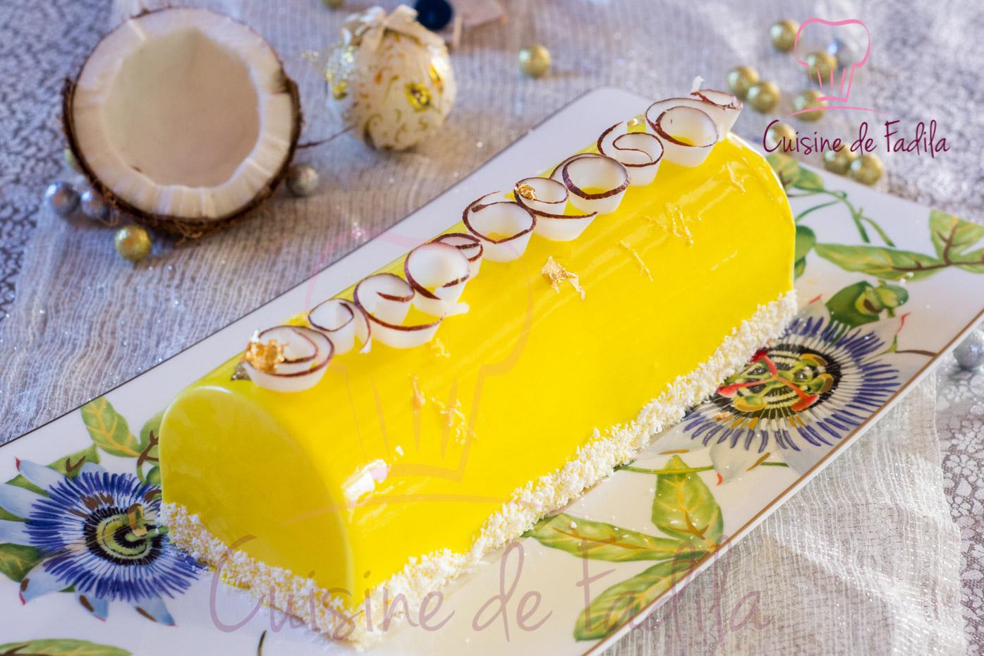 Recette buche de noel citron avec insert