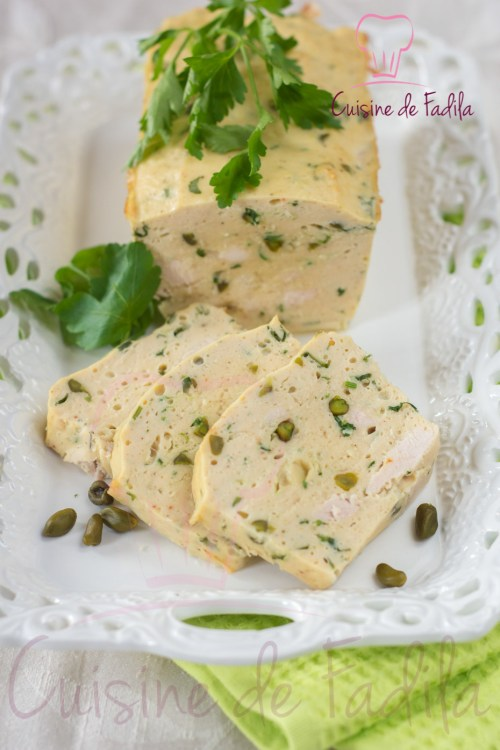 terrine poulet pistache