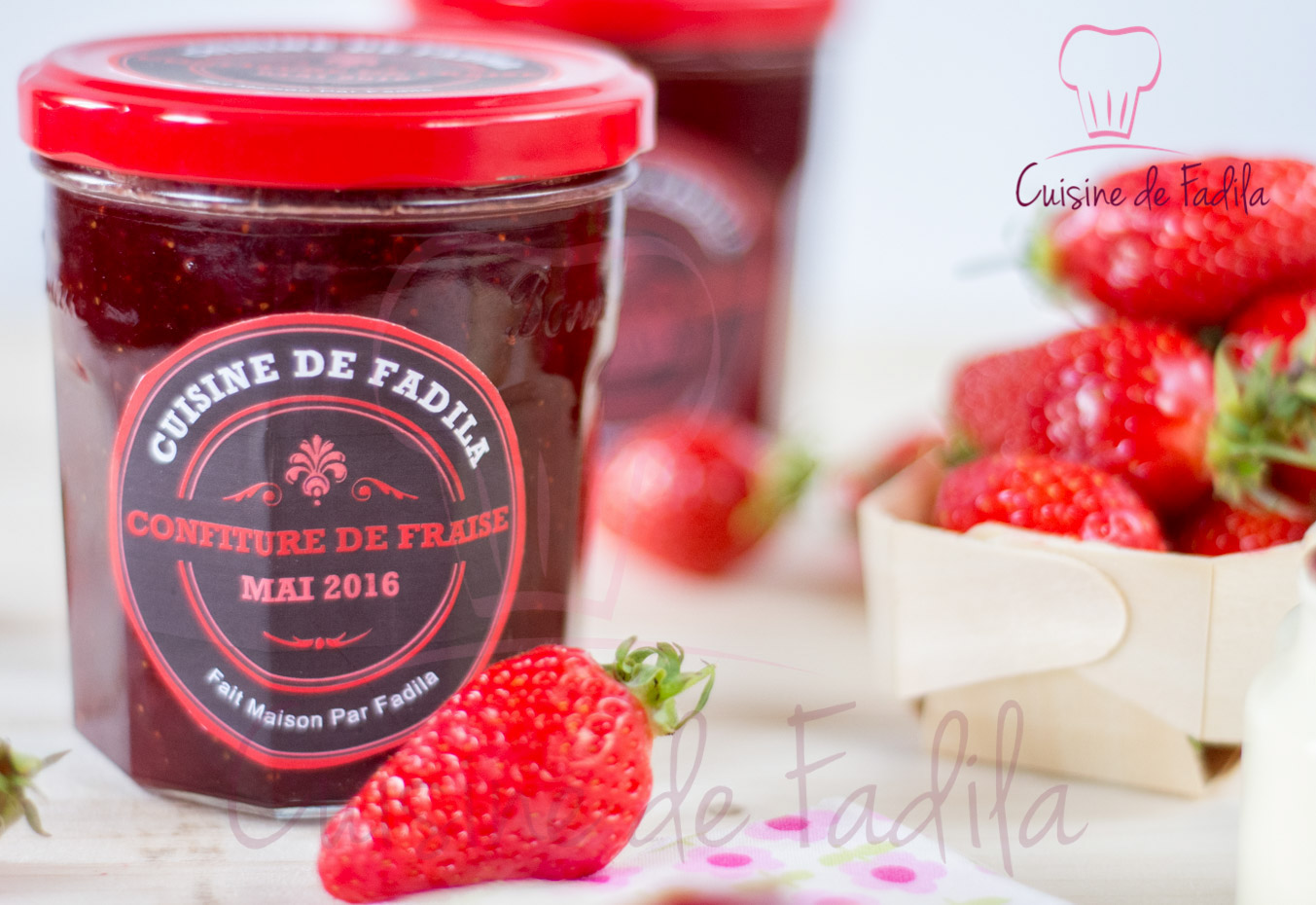 confiture de fraise a la cassonade