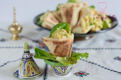 Batbout triangle poulet curry