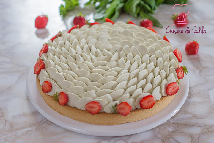 Tarte fraise menthe et basilic