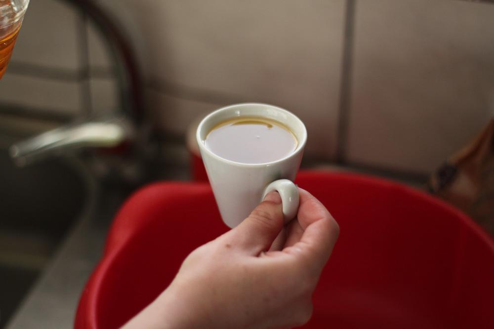 burekakia tasse espresso pleine d huile