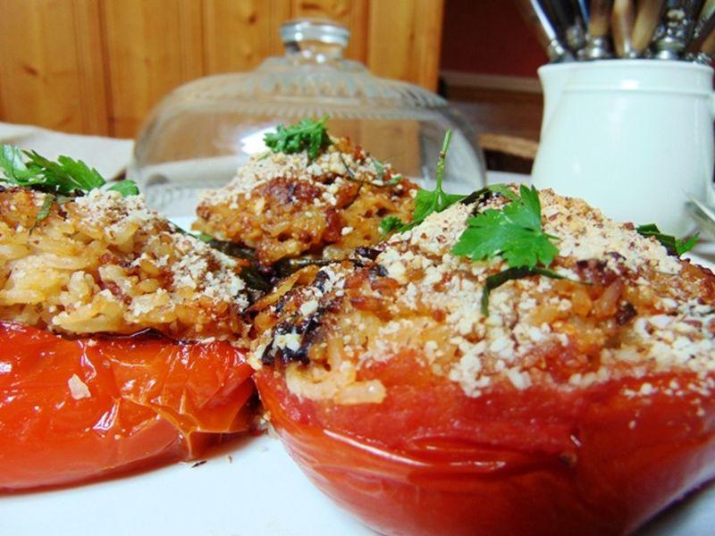 Recette : Tomate farcie, Aubergine farcie et Poivron farci